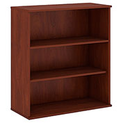 "Bush® 48""H 3 Shelf Bookcase Hansen Cherry"