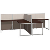 Bush® Easy Office 60W 2-Person L-Desk, Open Office