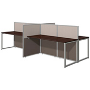 Bush® Easy Office 60W 4-Person Straight Desk, Open Office
