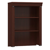 Bush Furniture Executive Hutch for Lateral File Cabinet - Harvest Cherry - Birmingham Series