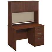 "Bush Furniture Hutch with File - 48""W - Hansen Cherry - Series C Elite"