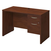 "Bush Furniture Wood Desk with 3/4 Pedestal - 48""W - Hansen Cherry - Series C Elite"