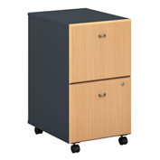 Bush Furniture Two Drawer File (Assembled) - Beech - Series A