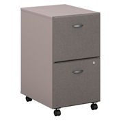 Series A Pewter Two-Drawer File (Setup)
