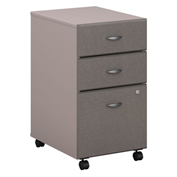 Series A Pewter Three-Drawer File (Setup)