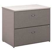 Series A Pewter 2 Drawer Lateral File (Setup)