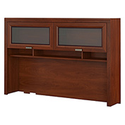 Bush Furniture Hutch For L Desk - Hansen Cherry - Tuxedo Series