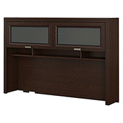 Bush Furniture Hutch For L Desk - Mocha Cherry - Tuxedo Series