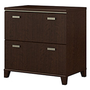 Bush Furniture Lateral File Cabinet - Mocha Cherry - Tuxedo Series