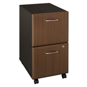 Bush Furniture Two Drawer File (Assembled) - Walnut - Series A