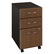 Series A Walnut Three-Drawer File (Setup)