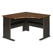 "Series A Walnut 48"" Corner Desk"
