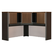 "Series A Walnut 48"" Corner Hutch"