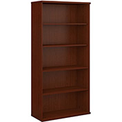 Series C Mahogany Open Double Bookcase