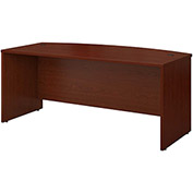 "Bush Furniture Wood Desk Shell with Bow Front - 72"" - Mahogany - Series C"