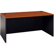 "Bush Furniture Wood Desk Shell - 66"" - Auburn Maple - Series C"