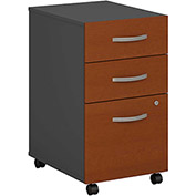 Bush Furniture Three Drawer File Cabinet (Assembled) - Auburn Maple - Series C