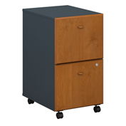 Series A Natural Cherry Two-Drawer File (Setup)