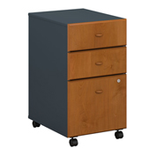 Series A Natural Cherry Three-Drawer File (Setup)