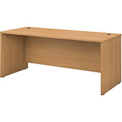 "Bush Furniture Wood Desk Shell - 72"" - Light Oak - Series C"