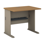 "Bush Furniture 36"" Desk - Light Oak - Series A"