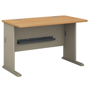 "Bush Furniture 48"" Desk - Light Oak - Series A"