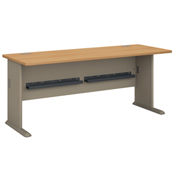 "Bush Furniture 72"" Desk - Light Oak - Series A"