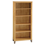 Bush Furniture 5 Shelf Bookcase - Maple Cross - Somerset Series