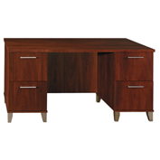 "Bush Furniture Wood Desk - 60""W - Hansen Cherry - Somerset Series"