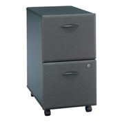 Bush Furniture Two Drawer File (Assembled) - Gray - Series A