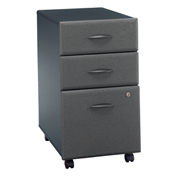 Bush Furniture Three Drawer File (Assembled) - Gray - Series A
