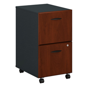 Bush Furniture Two Drawer File Cabinet (Assembled)- Hansen Cherry - Series A