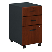 Bush Furniture Three Drawer File Cabinet (Assembled)- Hansen Cherry - Series A