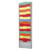 16 Pocket Literature Rack - Platinum