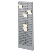 Jumbo Time Card Rack with Adjustable Pockets - Grey