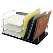 6 Pocket Desk Combo Tray - Black