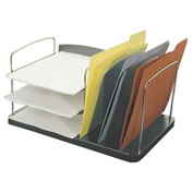 6 Pocket Desk Combo Tray - Charcoal