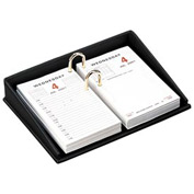 Milano Collection Executive Leather Desk Set - Calendar Holder - Pkg Qty 6
