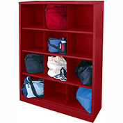 Sandusky Cubbie Storage Organizer - 12 Sections - Red