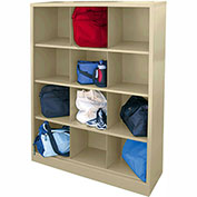 Sandusky Cubbie Storage Organizer - 12 Sections - Putty