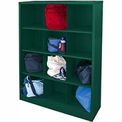 Sandusky Cubbie Storage Organizer - 12 Sections - Forest Green