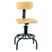 Bevco 1411 Maple Plywood Stool Chair, 4-Leg Base w/ Welded Footring