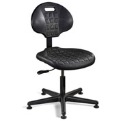 Bevco 7000-BLK Everlast Polyurethane Chair, Black Nylon Base, Mushroom Glides