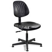 Bevco 7000D Dura Polyurethane Chair, Black Nylon Base, Mushroom Glides, Black