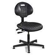 Bevco 7001-BLK Everlast Polyurethane Chair, Black Nylon Base, Mushroom Glides