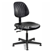 Bevco 7001D Dura Polyurethane Chair, Black Nylon Base, Mushroom Glides, Black