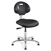 Bevco 7050-BLK Everlast Polyurethane Chair, Aluminum Base, Mushroom Glides, Black