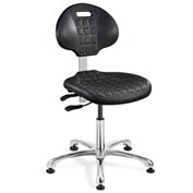 Bevco 7051-BLK Everlast Polyurethane Chair, Aluminum Base, Mushroom Glides, Black