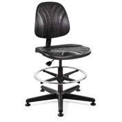 Bevco 7300D Dura Polyurethane Chair, Black Nylon Base, Mushroom Glides, Black