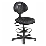 Bevco 7301-BLK Everlast Polyurethane Chair, Black Nylon Base, Mushroom Glides